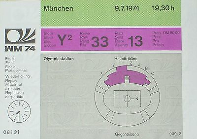 1974 World Cup Final replay ticket