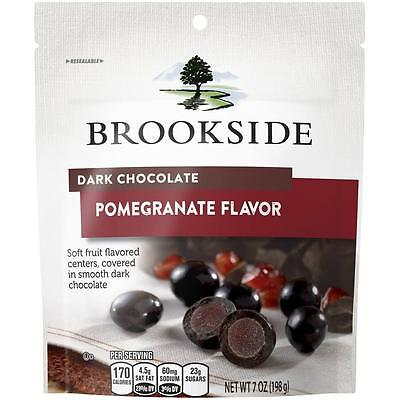 Brookside Dark Chocolate Covered Pomegranate Flavor Fruit Candy 7oz 3/17+