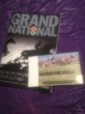 2013 Grand National Race Card With Ticket