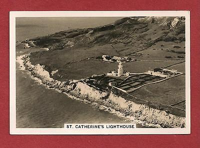 St CATHERINE'S LIGHTHOUSE original 1939 Aerial photograph Isle of Wight