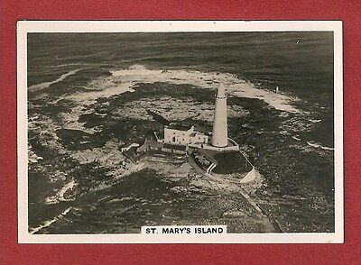 St MARY'S ISLAND LIGHTHOUSE original 1939 Aerial photograph Whitley Bay