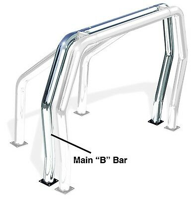 Go Rhino 91002C Rhino Bed Bars; Rear Main B Bar