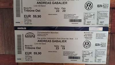 andreas gabalier 2 x tickets sitzpl tze m nchen olympiastadion eur 250 00 picclick de. Black Bedroom Furniture Sets. Home Design Ideas