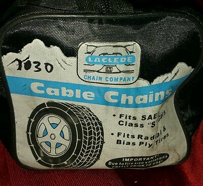 Laclede Cable chains, fits class 'S' cars, fits radial & Blass Ply Tires 1030