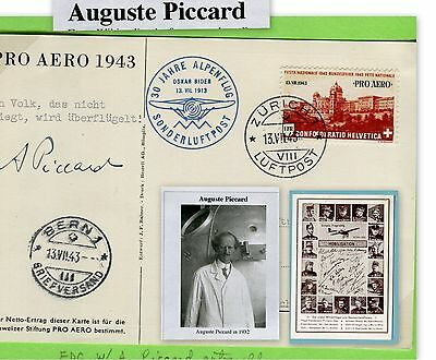 Auguste Piccard, Swiss Physicist, inventor & Explorer (3220