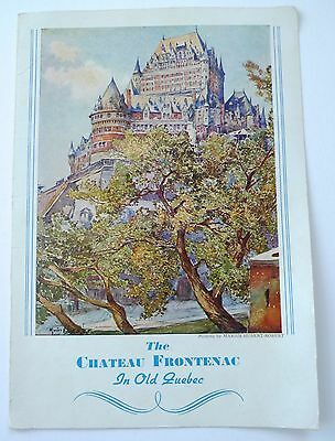 1946 Canadian Pacific Railway Dining Car Menu - Chateau Frontenac - Quebec