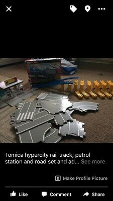 tomica hypercity Train Track Petrol Station And Road