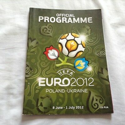 EURO 2012 POLAND-UKRAINE - OFFICIAL PROGRAMME (English Language)(Spain,England)