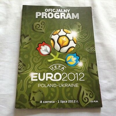 EURO 2012 POLAND-UKRAINE - OFFICIAL PROGRAMME (Polish Language)(Spain,Germany)