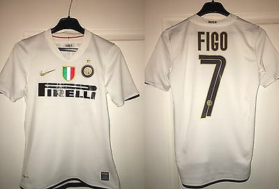Rare Maillot Collection Luis Figo 7 Inter Milan ( Portugal Real Madrid )