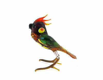 Parrot Blown Glass Figurine Collectible Highquality Handmade Russian Federation