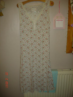 cath kidston vintage look floral print nightie/night dress size small