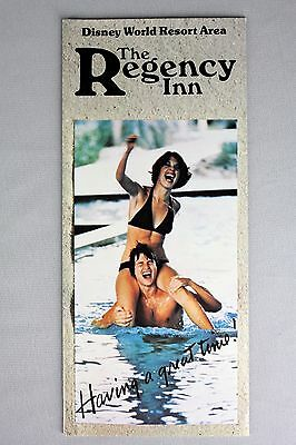 Vtg 70s Regency Inn Travel Brochure Hotel Walt Disney World Bikini Girl Florida