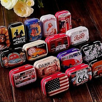 Vintage Case Iron Can Box Storage USA  Style Candy Home