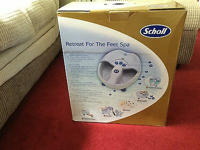 Scholl Foot Spa Used Once Boxed