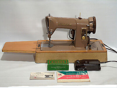 Singer 185k Sewing Machine Semi Industrial + Manual + Accessories