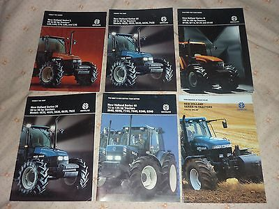 Selection Of Ford New Holland Tractor Brochures (Literature Sales Book Leaflets)