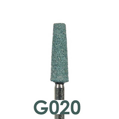 100 Flat End Taper Green Mounted Stones Dental Lab