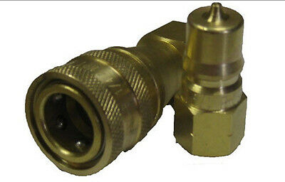 """Carpet Cleaning - Brass 1/4"""" Quick Disconnect for Wands, Extractor, Machines"""
