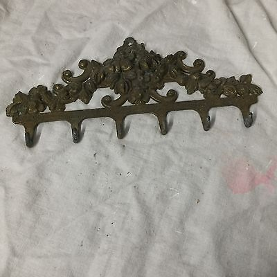 Reclaimed Brass Key Holder  With .six  Hooks