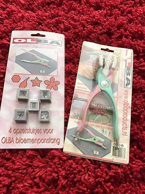 OLBA Floral Punch Pliers and spare design pieces RARE item