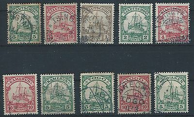 German Colonies - Collection of issues used