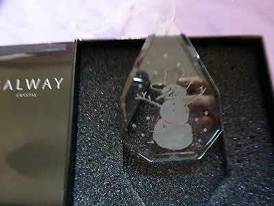 Galway Crystal tree decoration Snowman.