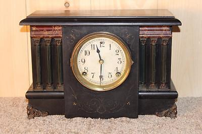 Classic Antique Sessions 8 Day Mantle Clock *Good Running Order*