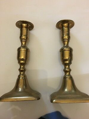 Victorian Brass Candle Stick Holders