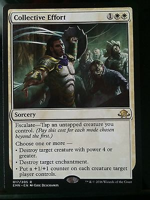 1x Collective Effort Eldritch Moon Magic the Gathering MTG Rare Card MINT