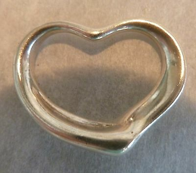 AuthenticTiffany & Co. Sterling Silver Elsa Peretti Floating Heart Charm Pendant