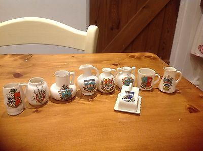 Arcadian Crested China Suffolk X 9 Pieces.Rare, LOOK AT LIST