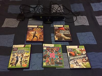 Xbox 360 Kinect and 5 games