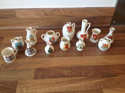 Arcadian Crested China.cheltenham Hereford Burford Etc 13 Pieces, Look List RARE