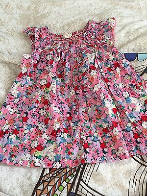 Girls 3-4 Years Pink Floral Button H&M Pretty Dress