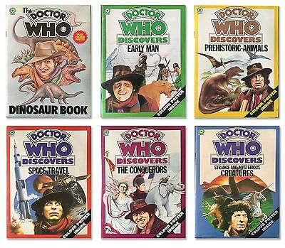 'Doctor Who Discovers' The COMPLETE SET of Target 1976 - 1978 books!
