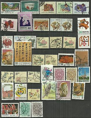 Taiwan 1993/97 39 used stamps as scan