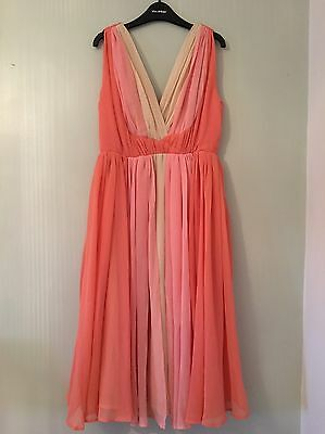 Asos Maternity Size 8 Peach Coral Occasion Dress