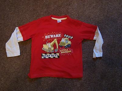 Boys S.G Junior Red Long Sleeve Top Size 4-5 Years