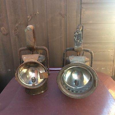 2 Old Hand Held Lamps