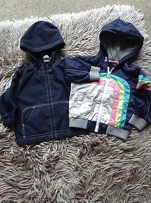 Job Lot Of Boys Jackets Age 12/18 Months 2 Hooded Blue Mix  From Next,gap,george