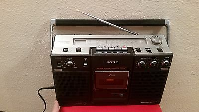 Radio Cassette Transistor Stereo Sony Cf 560 Sh Cf560 Recorder Boombox Vintage