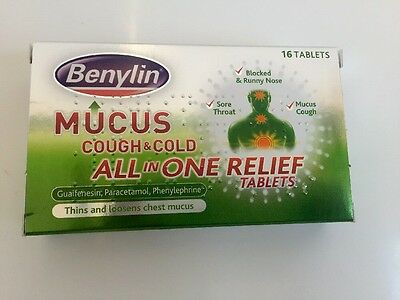 Benylin Mucus Cough & Cold All in One Relief Tablets ( 16 Tablets) Fast Postage