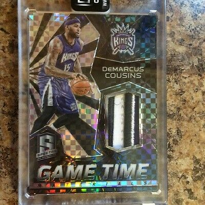15-16 Panini Spectra Demarcus Cousins 1/1 Game Time Materials 4 Clr Patch