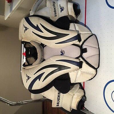 Vaughn Velocity V5 Goalie Arm and Chest Protector sz Int Large