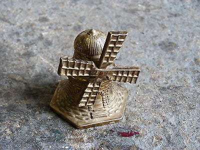 Miniature Brass Windmill Bell. Collectable!