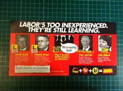 2007 Federal Election Campaign Material - Labor/Union Government