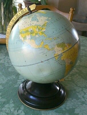 Vintage- Old School Globe on stand. 8 inch,  Replogle Globes