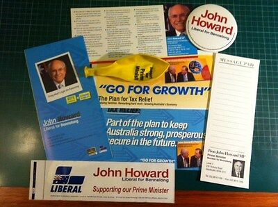 Prime Minister John Howard 2007 Bennelong Liberal Party Campaign Material