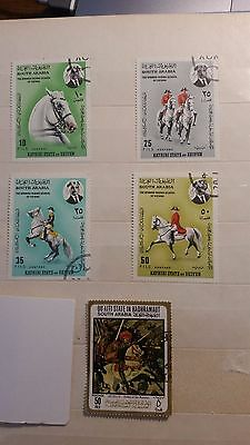 Postage Stamps South Arabia spanish riding school of Vienna